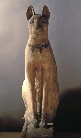 Coffin of a cat protected by the goddess Bastet