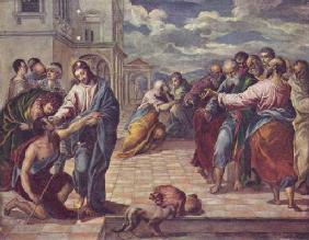 Christ cures the blind man