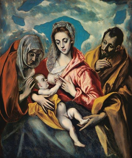 The Holy Family with St. Anna