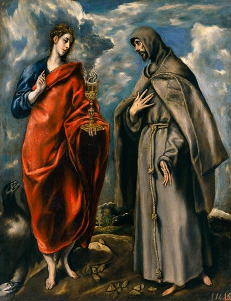 St. John the Evangelist and St. Francis