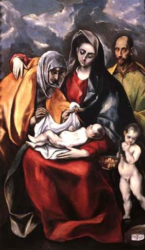 Holy Family with St. Anna and the little St. John Baptist
