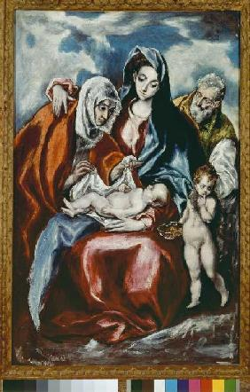 The Holy Family with St. Anna and the young Johannes d.T.