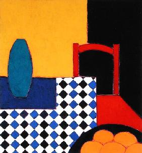Still life with Red Chair, 2002 (acrylic on paper)
