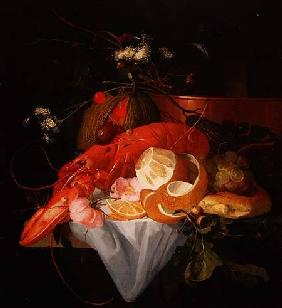 Broeck, Elias van den : A Still Life with Lobster,...