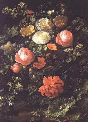 Broeck, Elias van den : Still Life with Roses, Ins...