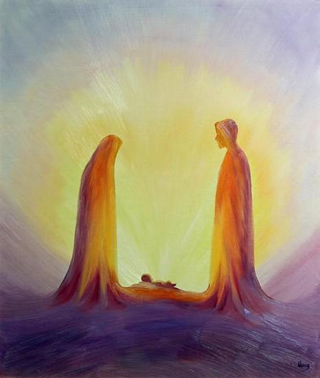 Mary And Joseph Look With Faith On The C Elizabeth Wang