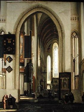 Interior of a Church with Figures