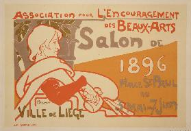 Reproduction of a poster advertising the Association for the Encouragement of Fine Arts 1896 Salon e