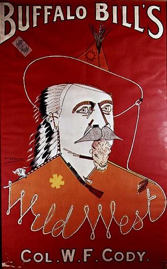 Poster advertising Buffalo Bill''s Wild - English School as