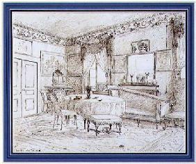 An English Regency salon interior, London
