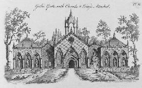 Gothic Grotto with Cascades and Wings Attached, from 'Grotesque Architecture or Rural Amusement' by