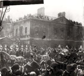 Jubilee Procession in Whitehall, 1887 (b/w photo)
