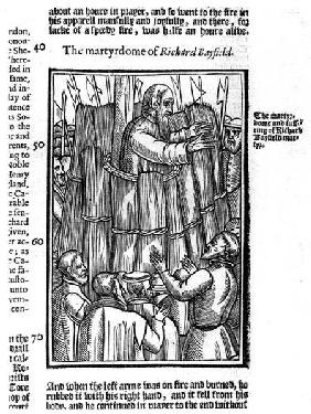The Martyrdom of Richard Bayfield (d.1531) from 'Acts and Monuments' by John Foxe (1516-87)