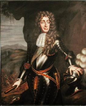 Portrait of James II (1633-1701) in armour