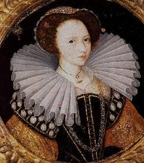 English School : Portrait of a Lady with a ...