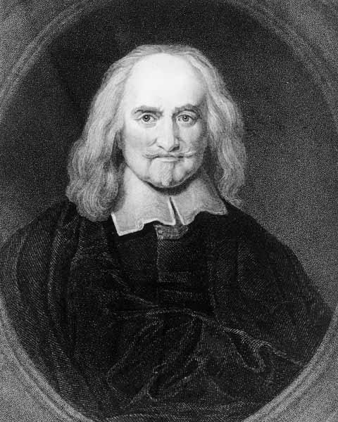 Thomas Hobbes (1588-1679) from ''Gallery of Portraits'', published in 1833