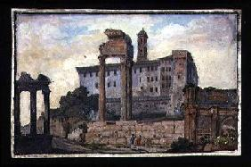 View of the Capitol and the Temples of Castor and Pollux, Rome