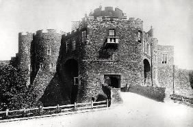 View of the Constable''s Gate, built 1221-27 (b/w photo)