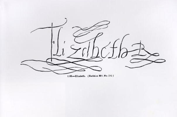 signature of queen elizabeth i 1533160 english school