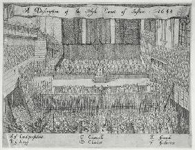 A Description of the High Court of Justice (The Trial of Charles I) (engraving)