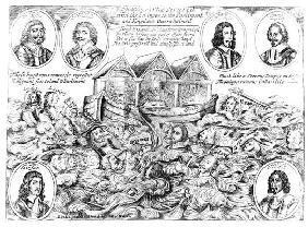 England's Ark Secured and the Enemies to the Parliament and Kingdom Overwhelmed, 1645-46 (engraving)