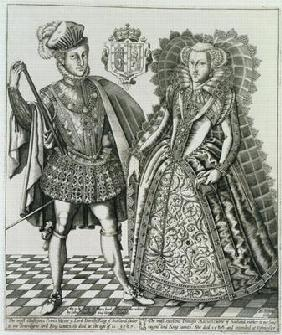 Portrait of Mary, Queen of Scots (1542-87) and Henry Stewart, Lord Darnley (1545-67) from the 'Book
