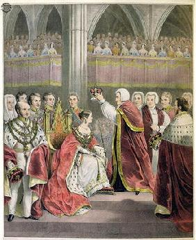 Her Most Gracious Majesty Queen Victoria, Crowned June 28th 1838 (colour litho)