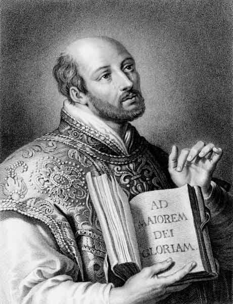 St. Ignatius of Loyola (1491-1556) from 'Gallery of Portraits', published in 1833 (engraving)
