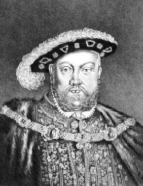 King Henry VIII (c1491-1547) illustration from 'Portraits of Characters Illustrious in British Histo