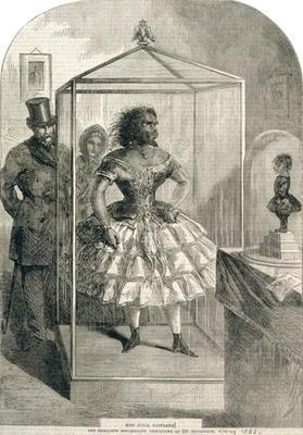 Miss Julia Pastrana, The Embalmed Nondescript, Exhibiting at 191 Piccadilly, 1862 (engraving)