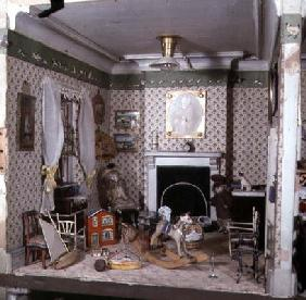 Nursery with toys from 'Miss Miles' House', 1890 (mixed media)