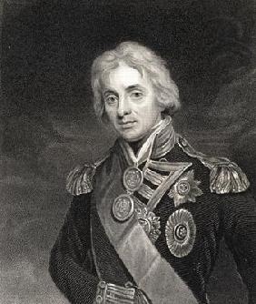 Portrait of Lord Horatio Nelson (1758-1805) (engraving)