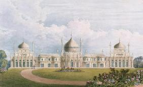 The East Front, from 'Views of the Royal Pavilion, Brighton' by John Nash (1752-1835) 1826 (aquatint