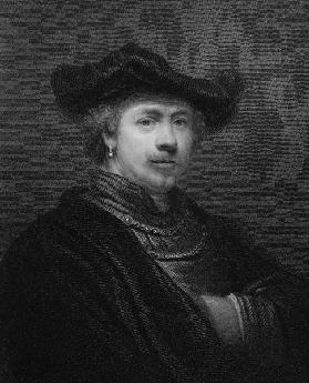 Rembrandt Harmens van Rijn (1606-69) from 'The Gallery of Portraits', published 1833 (engraving)