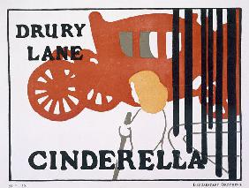 Poster for Cinderella at the Drury Lane Theatre, London, pub. by Beggarstaff brothers
