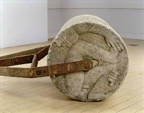 `Adam and Eve'' Garden Roller, 1933 (portland stone and iron)