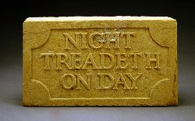Night Treadeth on Day, 1903 (stone)