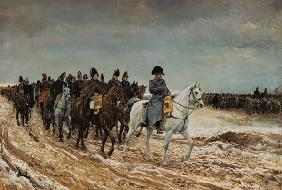 Napoleon and the generals Ney, Berthier, Drouaut, Gourgaud and de Flahaut in the campaign