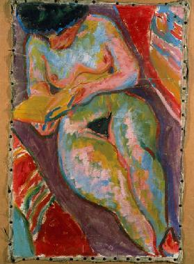 Nude woman (reading)