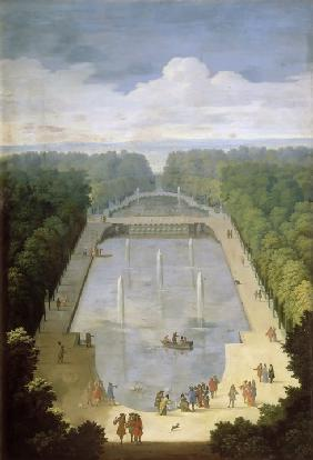 Bosquet de l'Île Royale and Bassin du Miroir in the gardens of Versailles