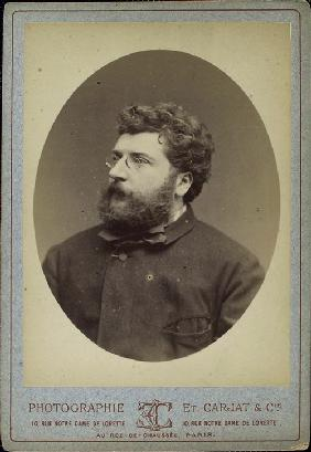 Portrait of the composer Georges Bizet (1838-1875)