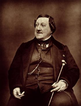 Gioacchino Rossini (1792-1868) from ''Galerie Contemporaine'', 1877 (b&w photo)