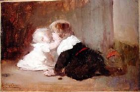 Children Playing, Leon and Marguerite
