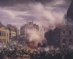 The Burning of the Chateau d'Eau at the Palais-Royal