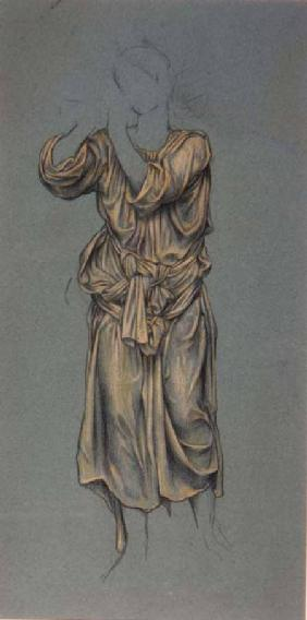Drapery Study for the figure of eternal youth from 'The Hour Glass'