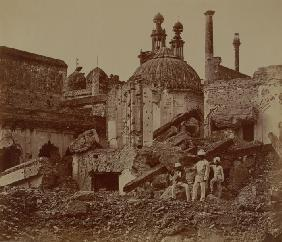 Fort Lucknow after the Indian mutiny, 1857 (b/w photo)