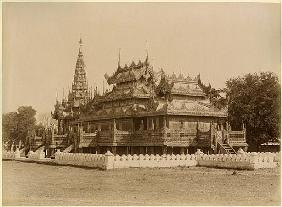 The Nan-U Human-Se, Shwe-Kyaung in the palace of Mandalay, Burma, late 19th century