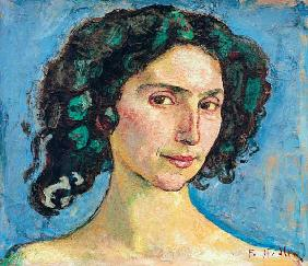 Head study of an Italian woman