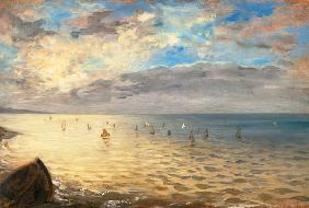 Look at the sea of the hills at Dieppe