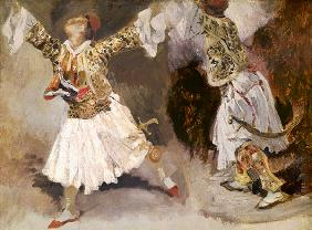 Two Greek Soldiers Dancing (Study of Soliote Dress)